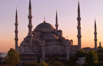 ilustrasi Sultan Ahmed Mosque, Istambul Turki