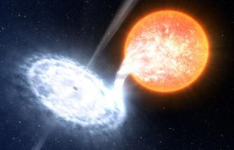 Ilustrasi black hore menghisap cahaya bintang