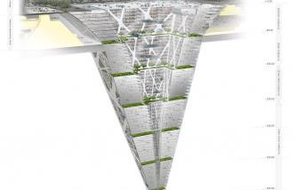 Architects design 65-storey building which plunges 300 metres below ground  Read
