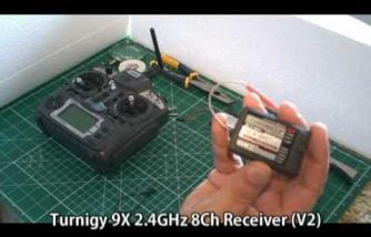 RC HobbyKing Bind Addtional Turnigy 9X 2.4 GHz 8Ch Receiver (V2)